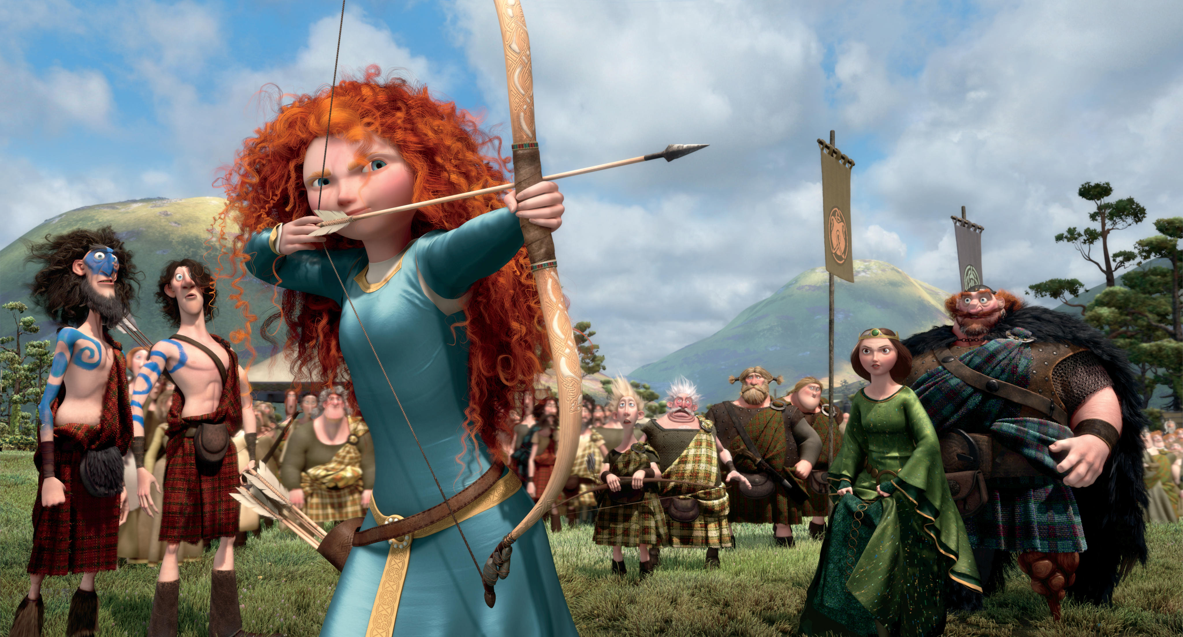 princesa merida valiente arco wallpaper