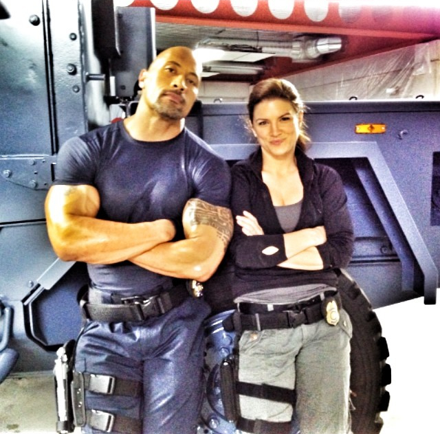 fast six dwayne johnson gina carano
