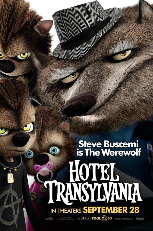 hombre lobo hotel transylvania familia