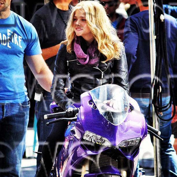 chloe moretz kick ass 2 hit girl moto