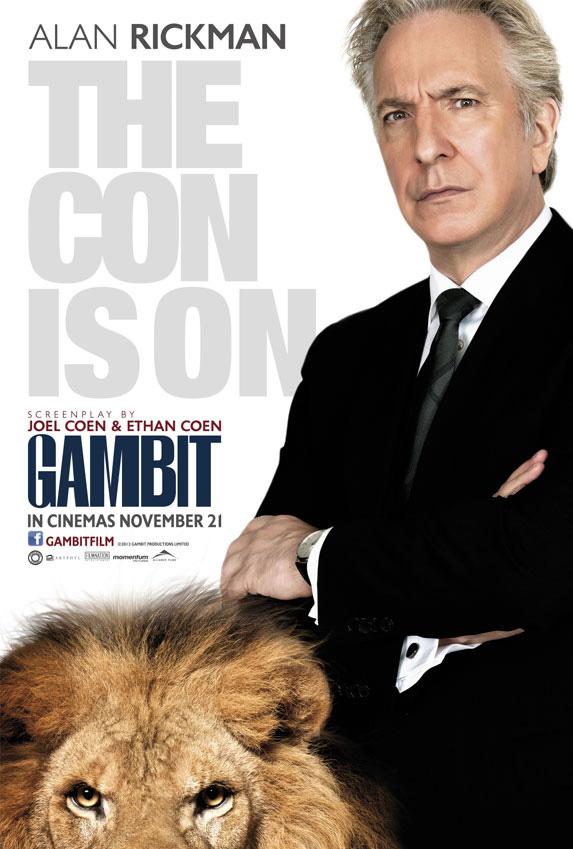 gambit alan rickman poster