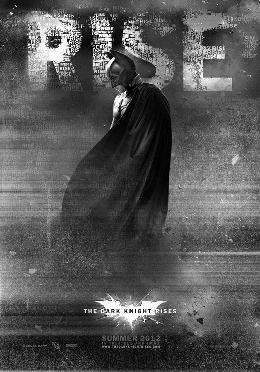 caballero noche asciende batman inedito poster