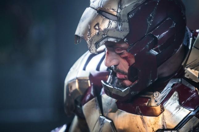 tony stark iron man 3 dañado