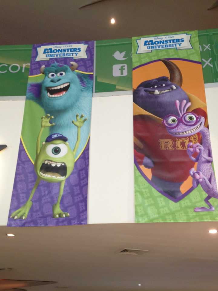 monsters university banners