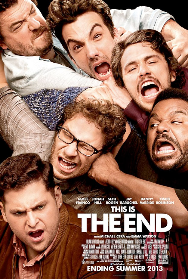 this is the end poster rogen franco
