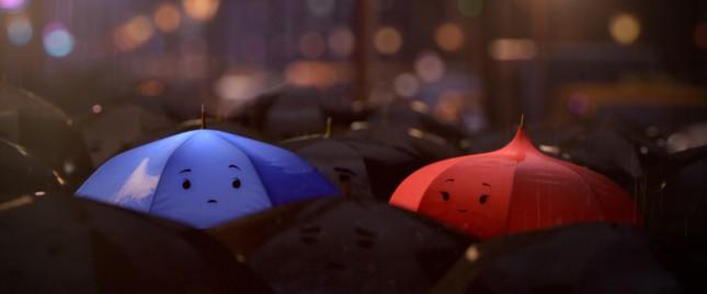 blue umbrella pixar