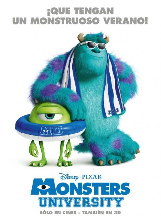 monsters university poster español
