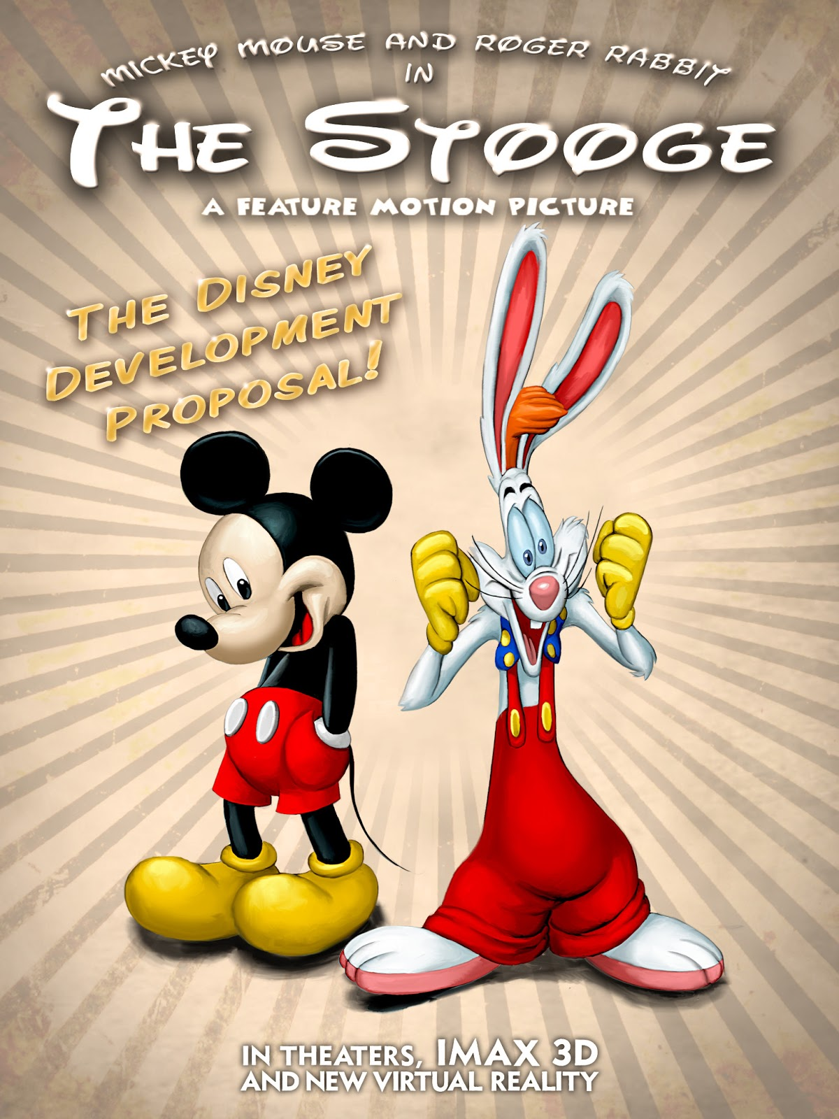 The Stooge Poster mickey mouse roger rabbit