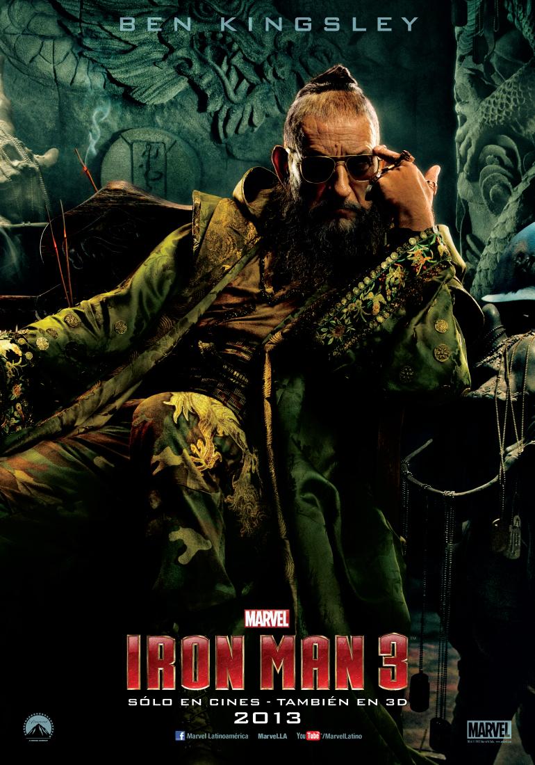 el mandarin ben kingsley iron man 3 poster