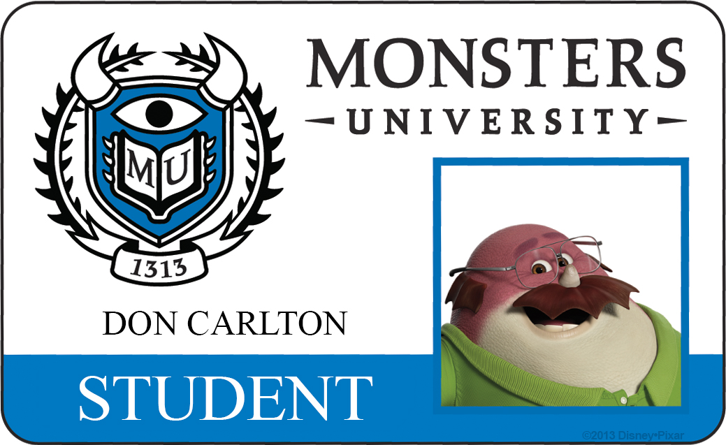 don carlton monsters university id