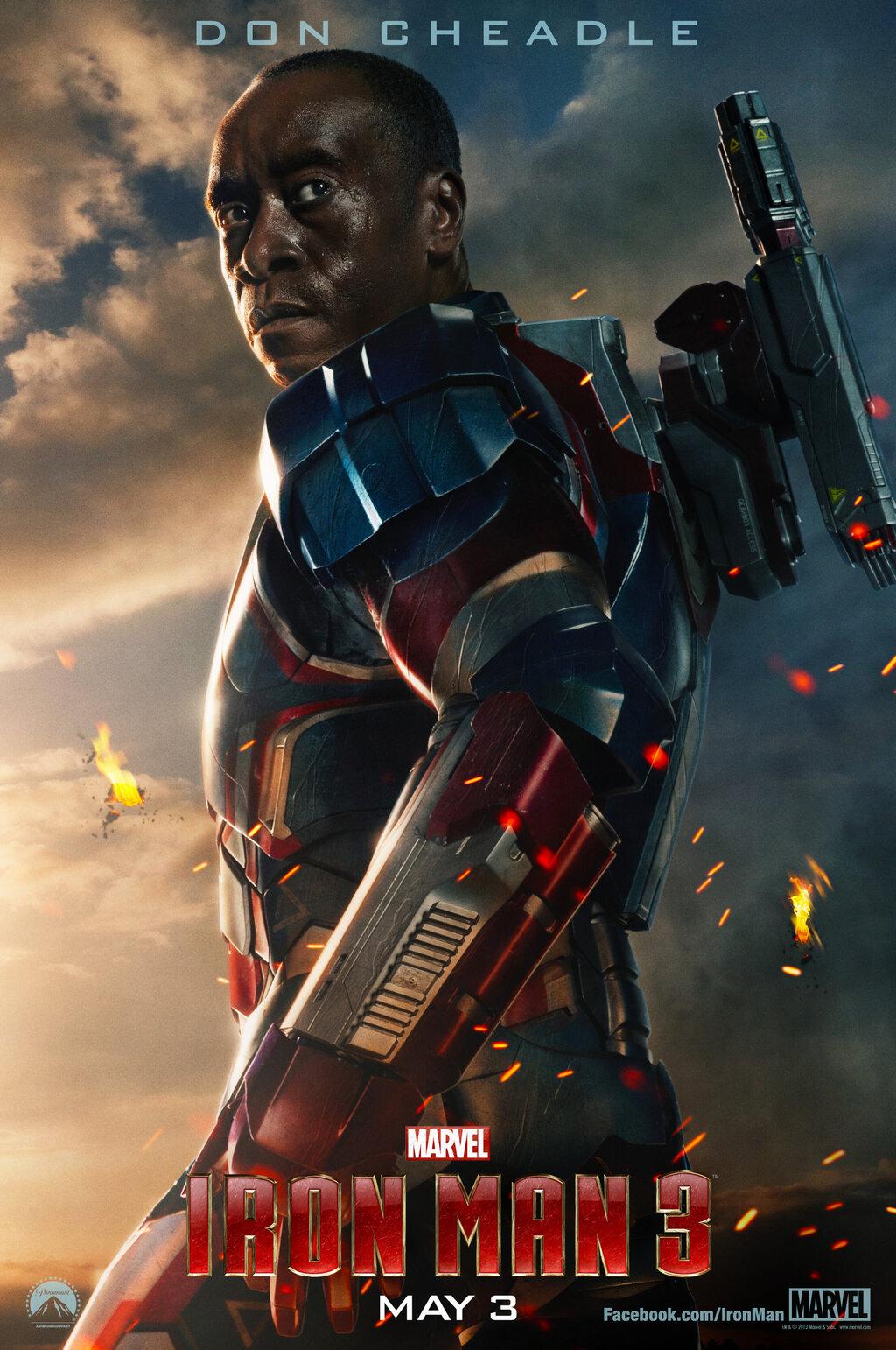 don cheadle Iron Man 3 Iron Patriot Poster