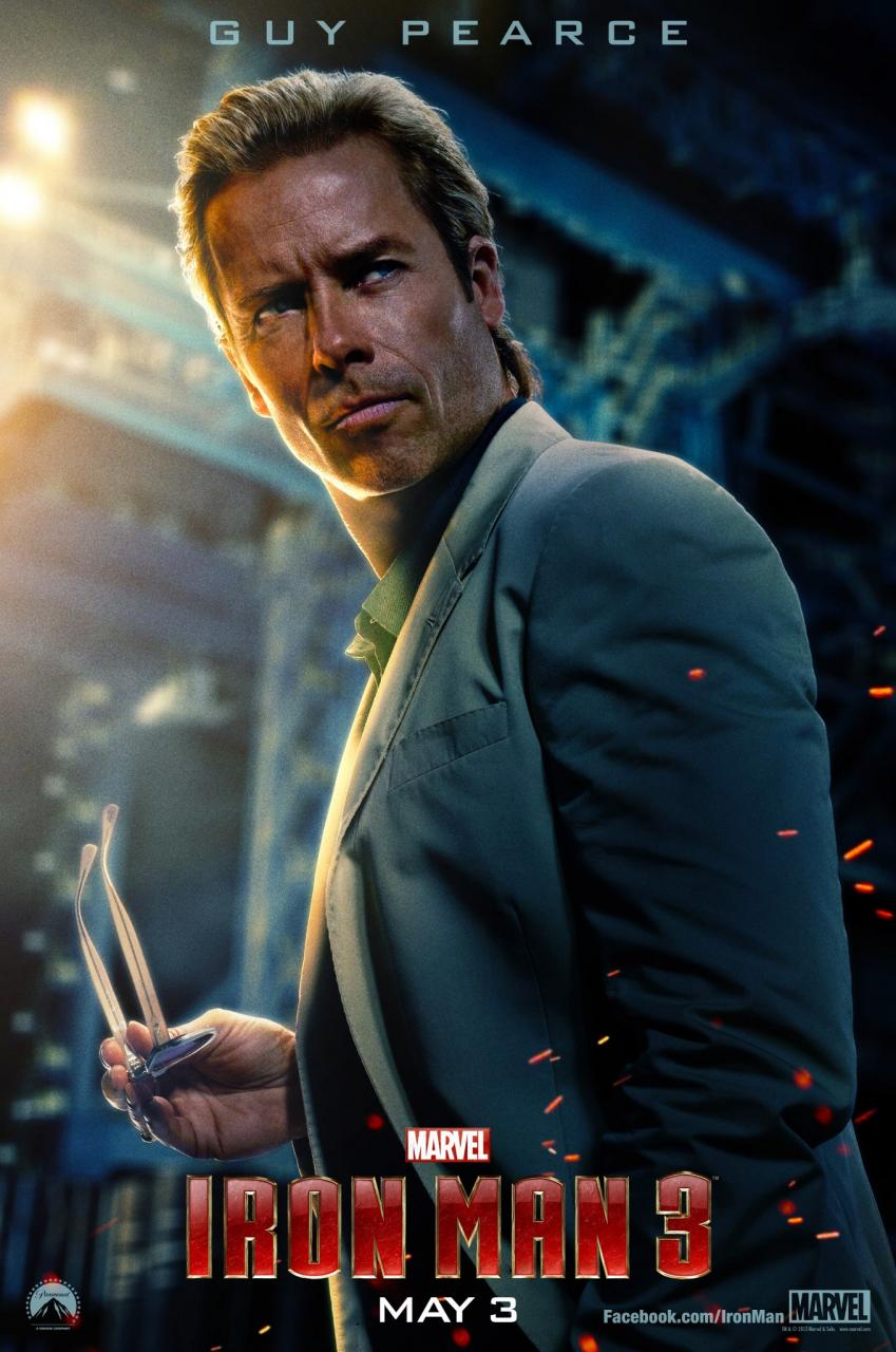guy pearce iron man 3 poster aldrich killian
