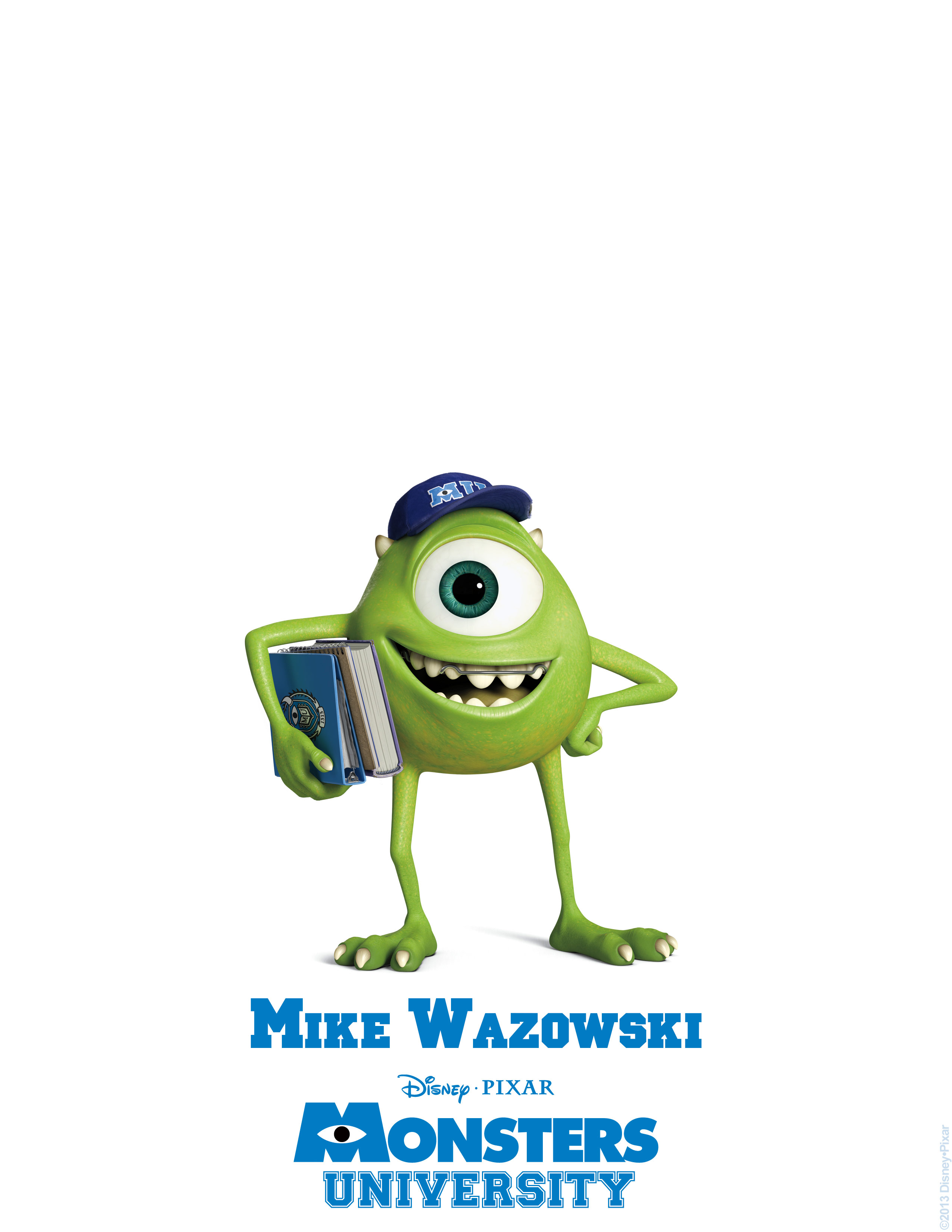 mike wazowski monsters university personajes