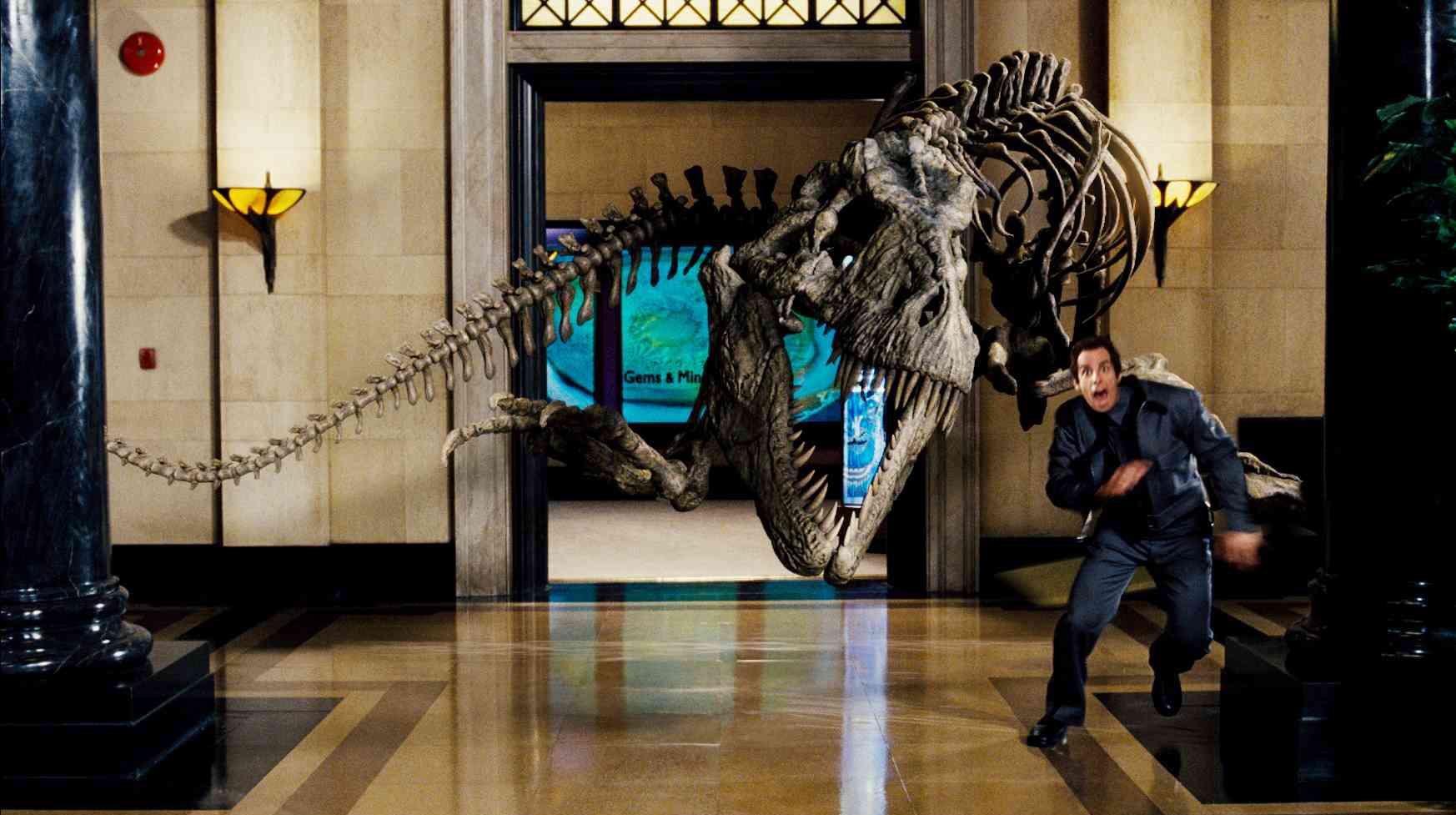 ben stiller rexy noche en el museo