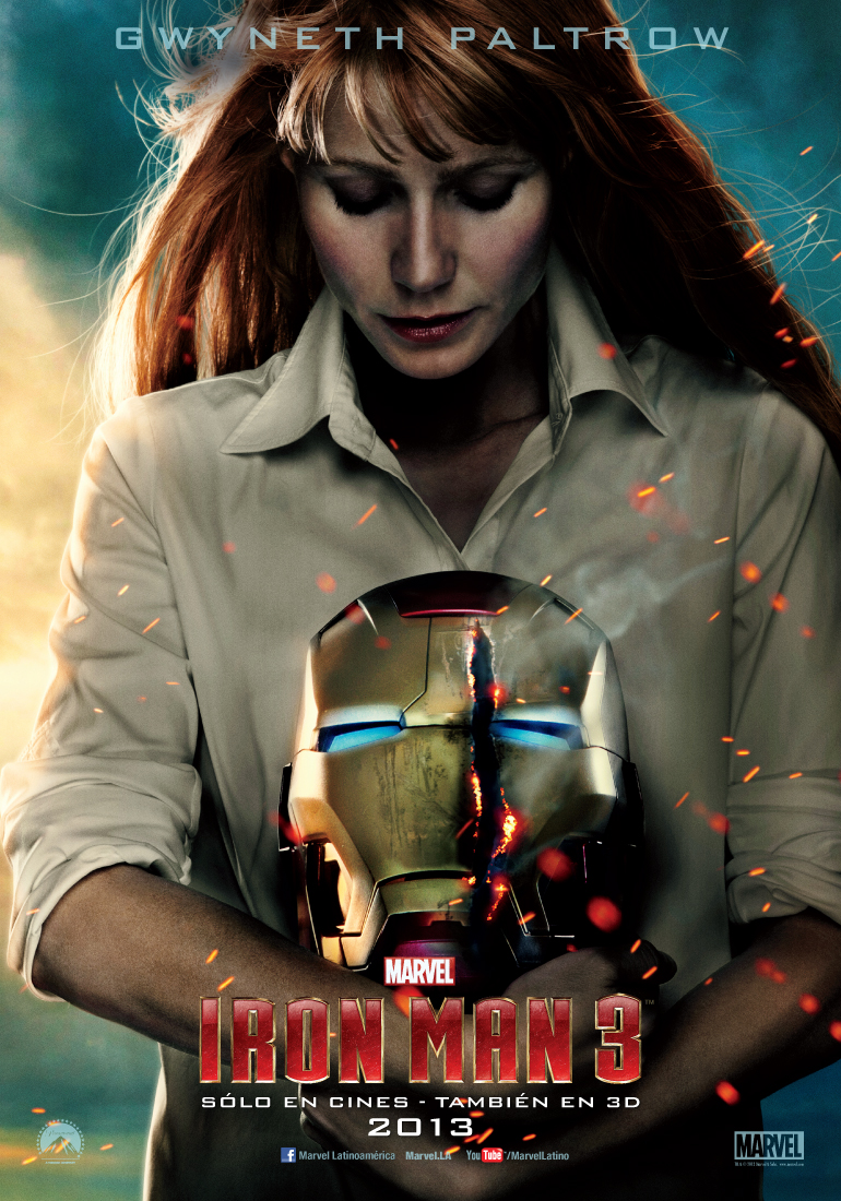pepper potts gwyneth paltrow iron man 3 poster