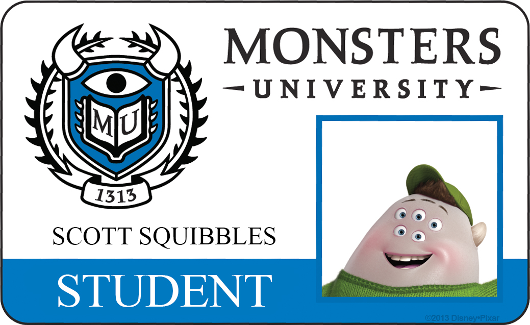 scott squishy squibbles monsters university id