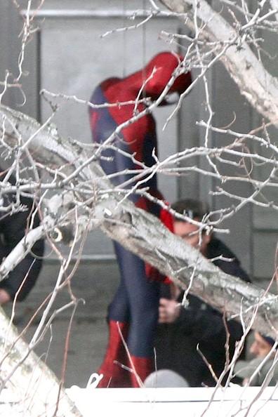 imagenes set filmacion hombre araña 2014