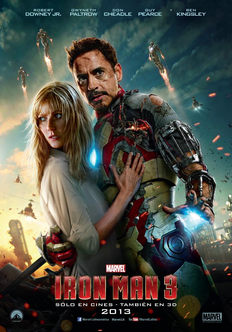 iron man 3 poster español