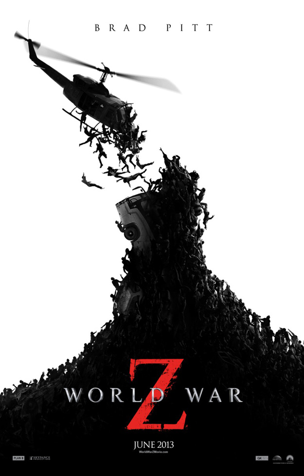 guerra mundial z poster zombies