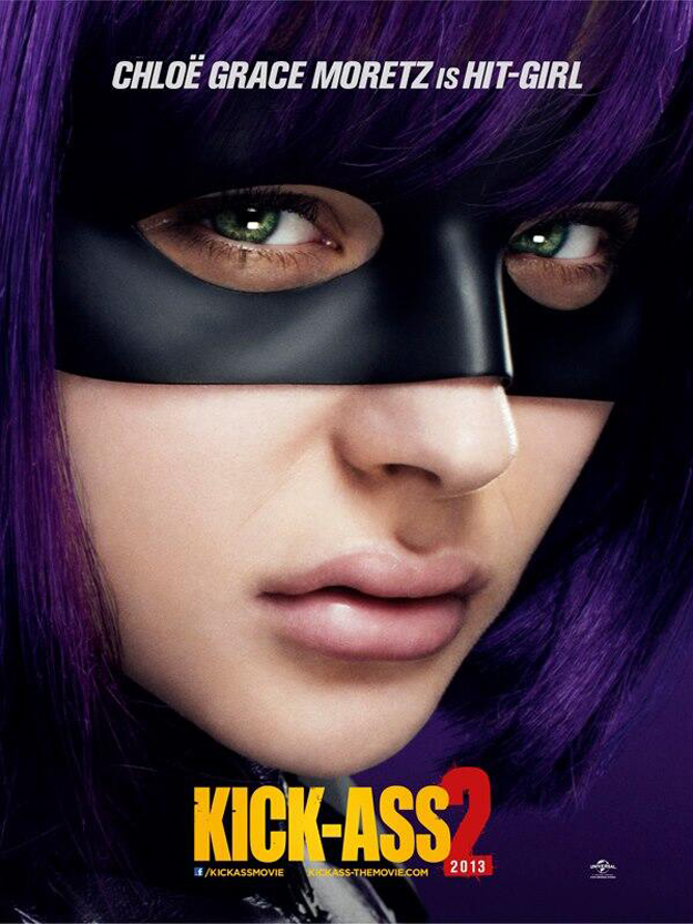 chloe grace moretz kick-ass 2 poster hit-girl
