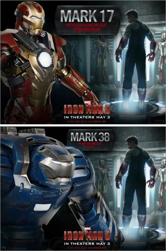 mark 17 mark 38 iron man 3