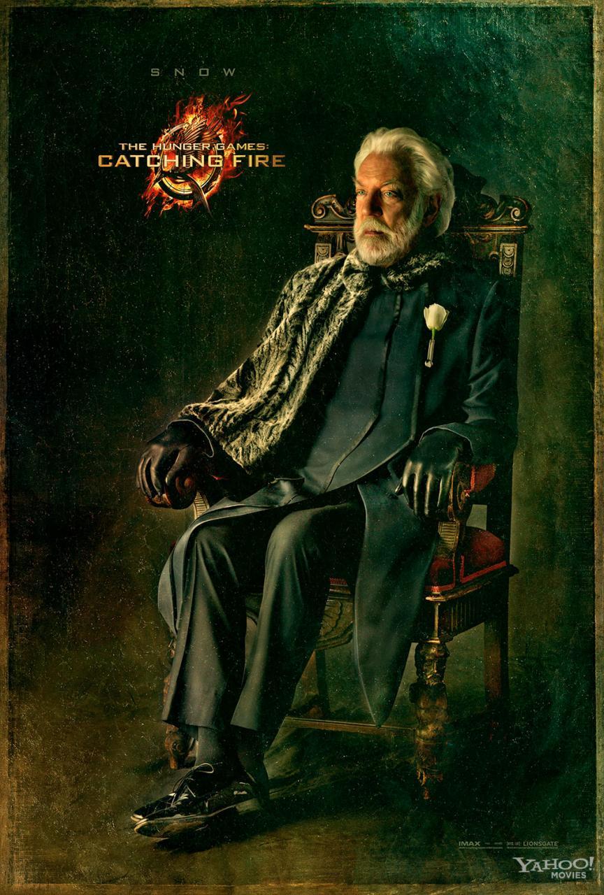 president snow donald sutherland en llamas poster
