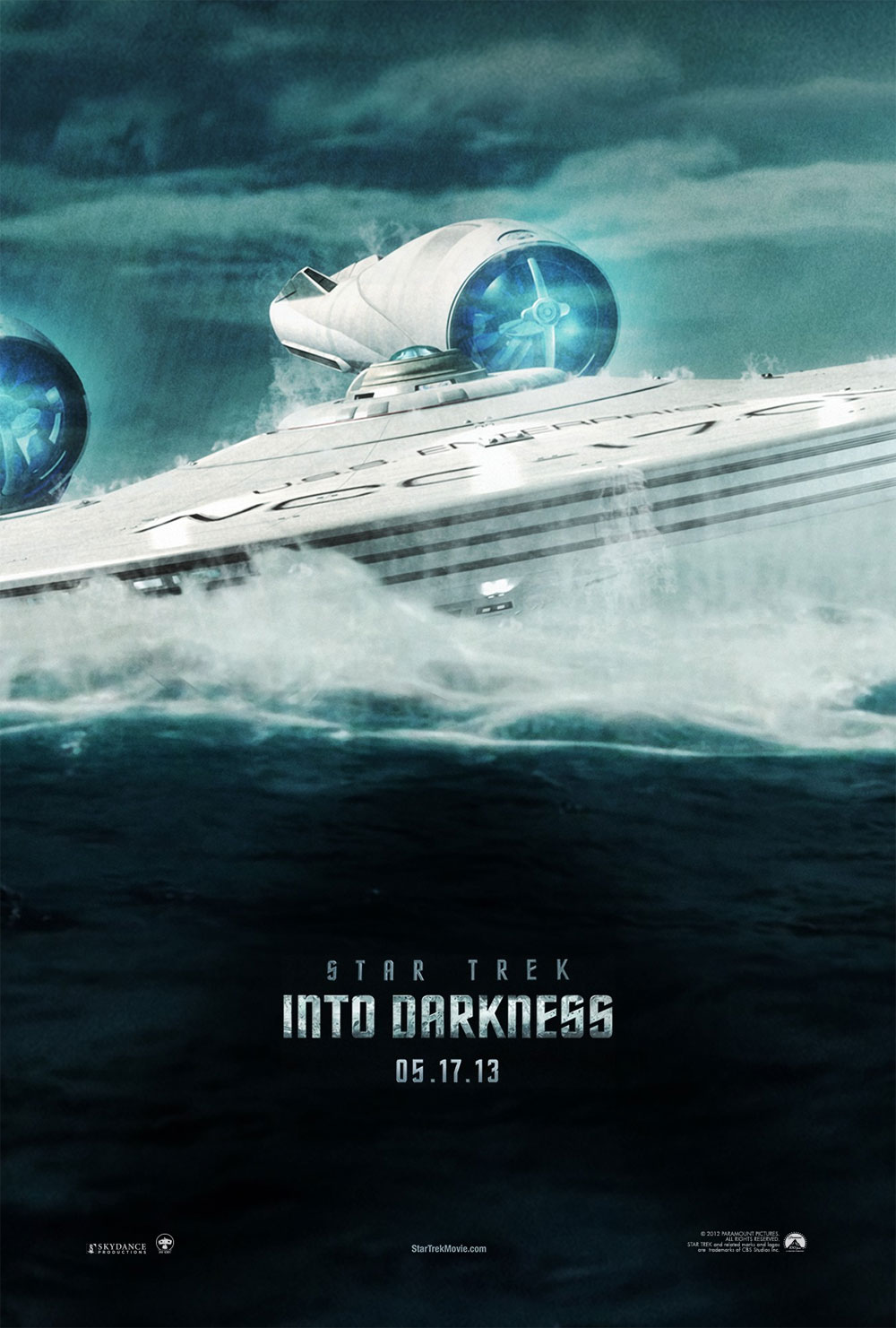 star trek en la oscuridad poster enterprise
