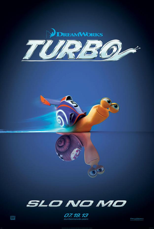 turbo caracol veloz poster
