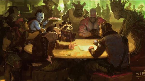 guardianes de la galaxia arte