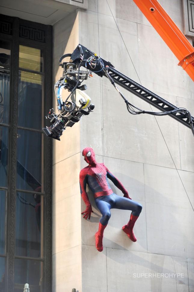 sorprendente hombre araña 2 filmacion