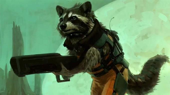 rocket racoon guardianes de la galaxia arte conceptual