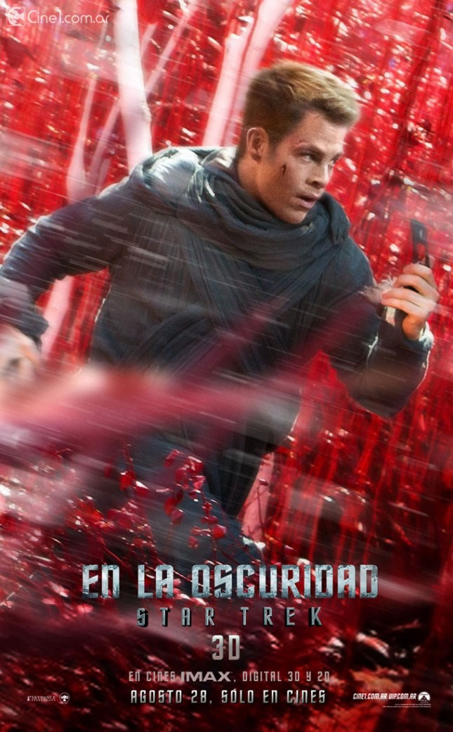 kirk star trek en la oscuridad poster chris pine