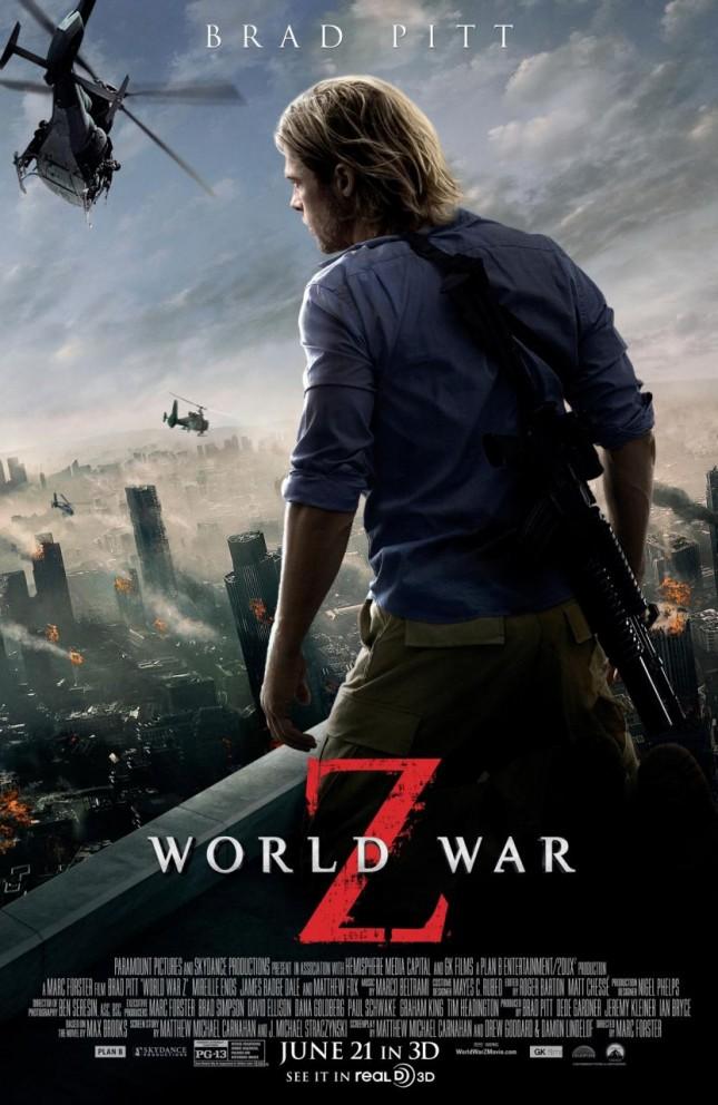 guerra mundial z poster brad pitt