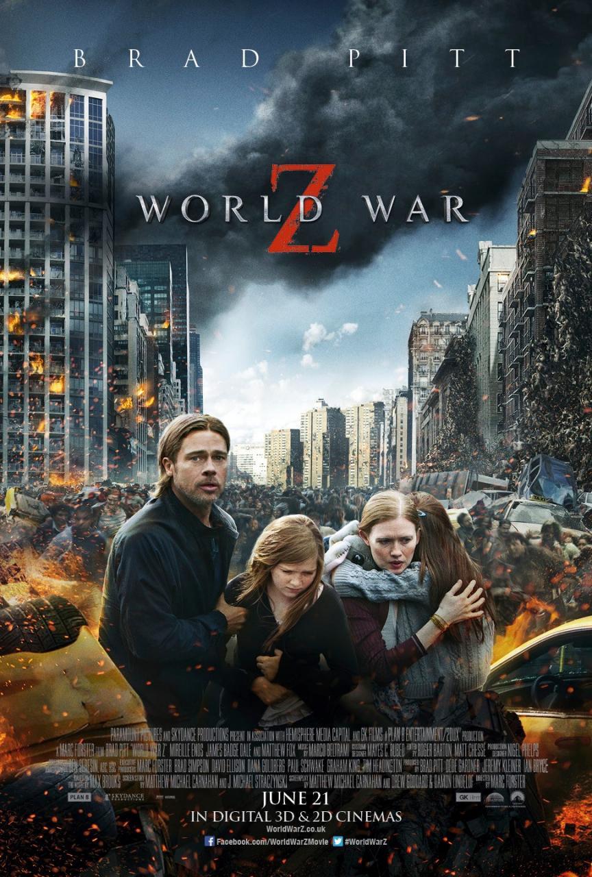 guerra mundial z poster caos