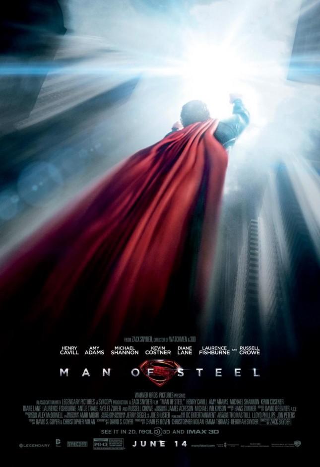 hombre de acero poster superman