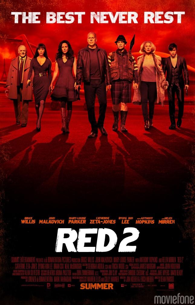 red 2 poster elenco