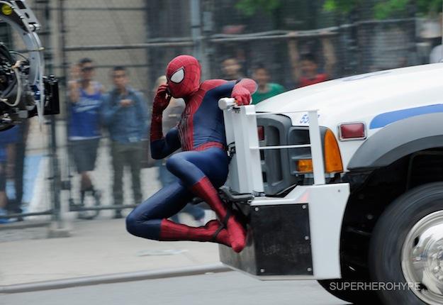 sorprendente hombre araña 2 llamada camion set