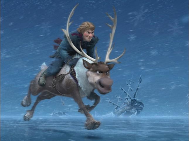 kristoff sven frozen aventura congelada