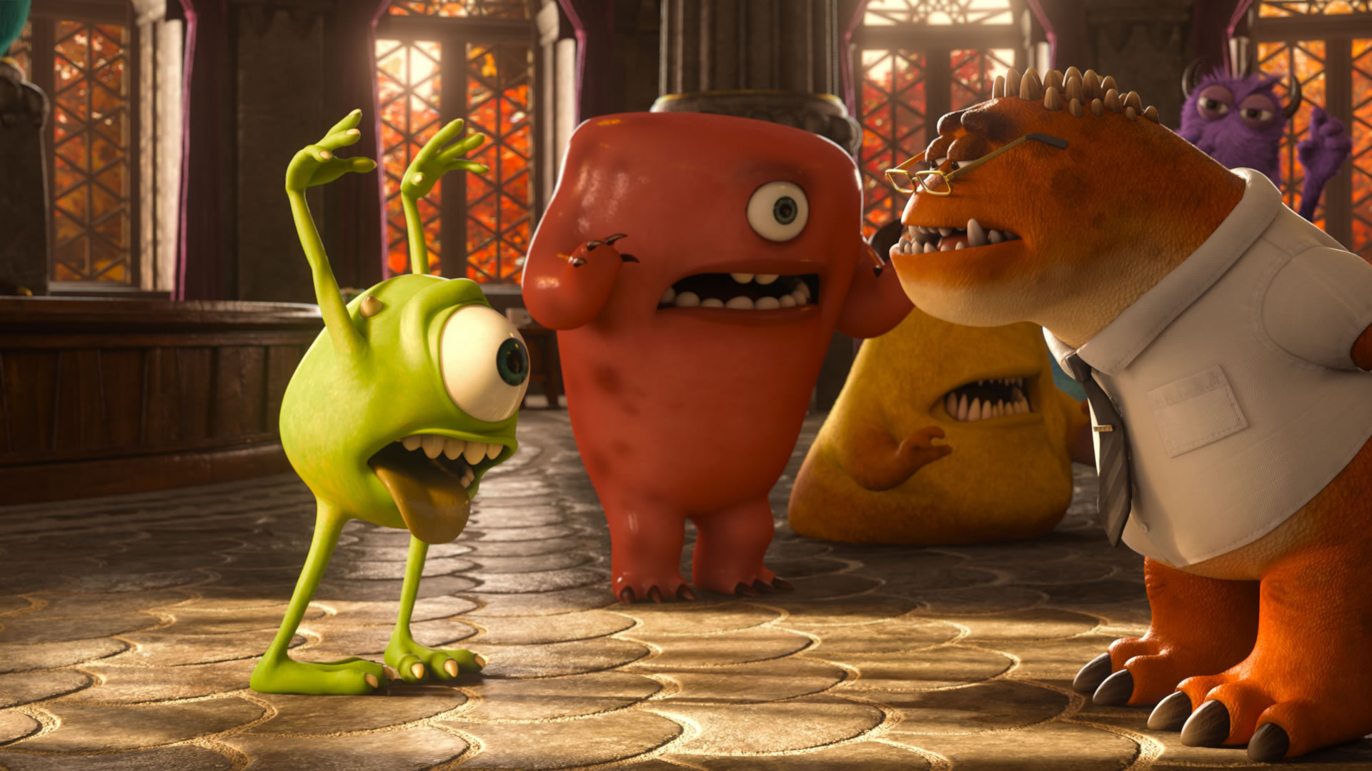 monsters university mike wazowski asustando