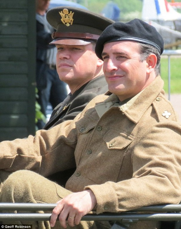 monuments men matt damon jean dujardin