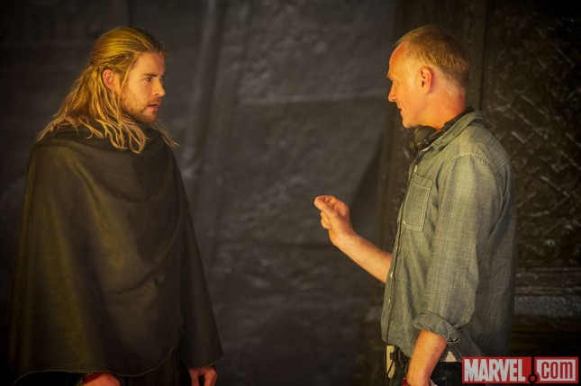 thor mundo oscuro chris hemsworth y alan taylor