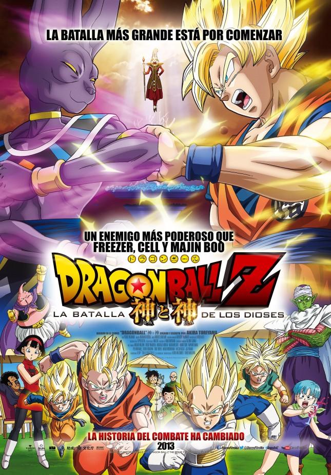 dragon ball z batalla de los dioses latino poster