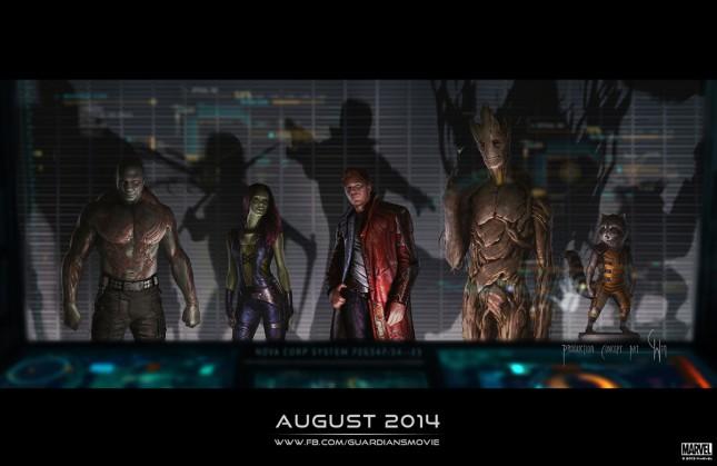 arte conceptual guardianes de la galaxia