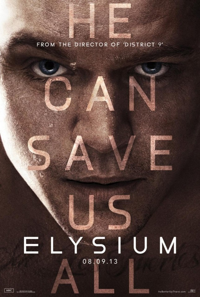 elysium poster matt damon