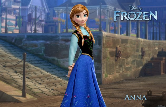 frozen anna aventura congelada