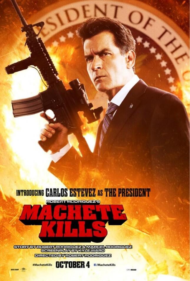 machete kills carlos estevez charlie sheen poster