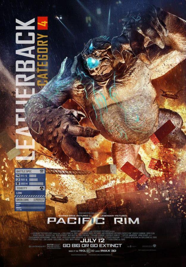 titanes del pacifico kaiju leatherback
