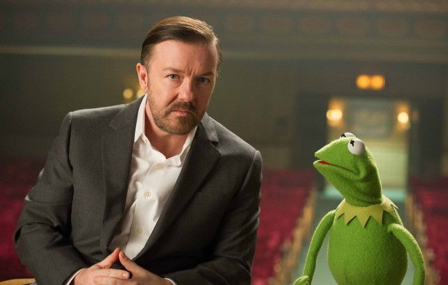 kermit ricky gervais muppets most wanted