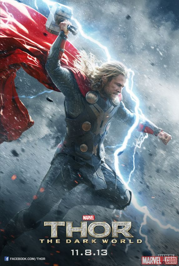 thor un mundo oscuro poster chris hemsworth