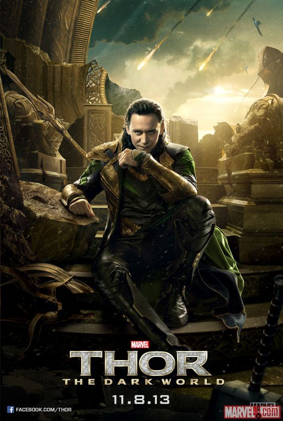 thor un mundo oscuro poster loki tom hiddleston